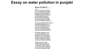 essay on water pollution in punjabi google docs