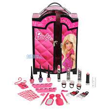 barbie fashion wardrobe makeup set pink black kids make up