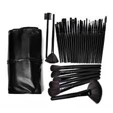 professional makeup brush set 32 piece black