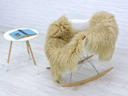 beige curly sheepskin rug real icelandic mongolian style chair sofa cover b01