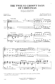 The 12 Groovy Days of Christmas (SATB ) arr. | J.W. Pepper Sheet Music