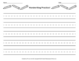 The writing paper on this page is meant to help preschool, kindergarten or early elementary grade students who are learning their handwriting skills and need guide lines. Handwriting Practice Paper For Kids Blank Pdf Templates