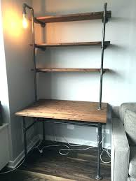 tall computer desk storage shelves workstation wood steel with in tall computer desk