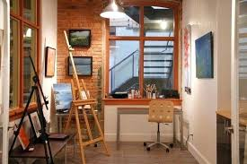 industrial style home office. Home Office Studio Ideas Small Art Industrial Style Interior Design Decorator Jobs