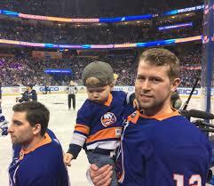 "Dan Rosen on Twitter: ""Josh Bailey, his 17 month old son Wyatt, and some  guy photobombing.… """