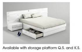 white platform bed with drawers. White Platform Bed With Drawers