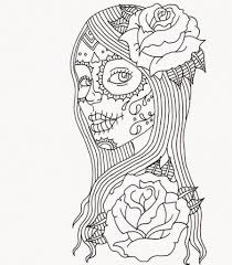 Free Printable Day Of The Dead Coloring Pages Adult Inside Baby