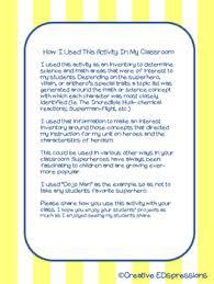 Characteristics Of A Superhero Super Hero Mini Poster Project By Creative Edspressions Tpt