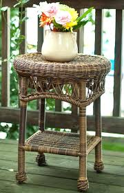 round wicker table classic coastal end lamp base