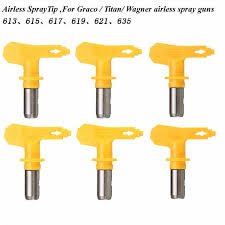airless spraying tips 6 series 13 35 for wagner atomex titan paint spray tip 35 cod
