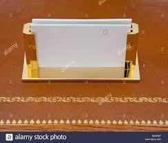 personalized business card holder desktop 126 brass business card holder on a leather desk with gold