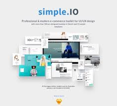 Simple Website Templates Mesmerizing SimpleIO Web ECommerce UI Kit For Sketch FreebiesUI