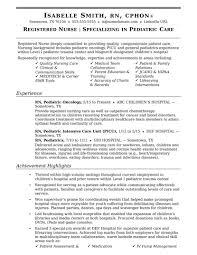 Nurse Resume Sample Monster Com Nursing Samples Sevte