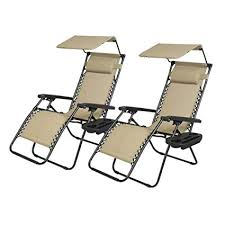 new 2 pcs zero gravity chair lounge patio chairs with canopy cup holder
