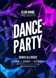 Party Template Modern Club Music Party Template Dance Party Flyer Brochure