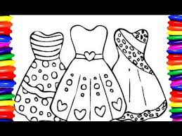 Coloring Pages Girls Dress Coloring Book Diyhow To Draw And Color