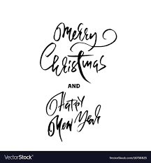 Handdrawn Merry Christmas Card Happy New Year Vector Image On Vectorstock