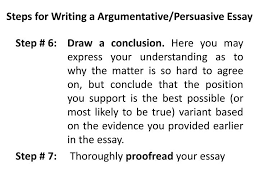 Steps To Writing An Argumentative Essay Writing A Argumentative Essay Steps
