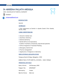 We found 70++ Images in Dentist Resume Sample India Gallery: