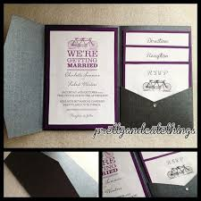 Wedding Invitation Folder Black Metallic Shimmer Wedding Invitations Diy Pocket Envelopes Folder Classic