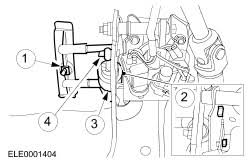 ford workshop manuals > focus > mechanical remove the clutch master cylinder
