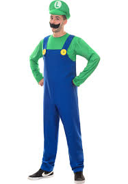 Plumber Luigi Costume, DeluxeFunny Costumes