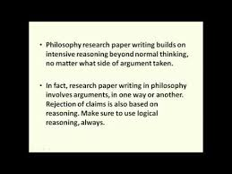 Philosophy Paper Help Basics For Writing Philosophy Research Papers