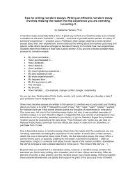 Tips On Writing A Narrative Essay Tips For Writing Narrative Essays