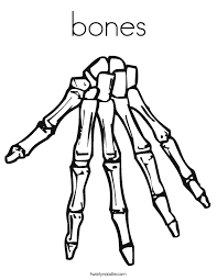 Small Picture bones Coloring Page Twisty Noodle