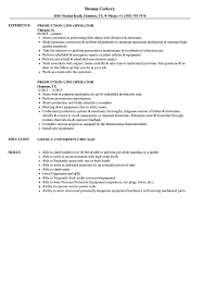 Production Operator Resume Examples Production Line Operator Resume Samples Velvet Jobs 15