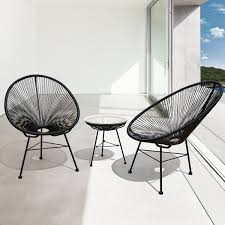 sarcelles modern wicker patio chairs by corvus set of 2 black size 2 piece sets patio furniture metal