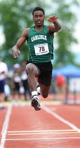 piaa track field notebook carlisle s deshawn millington fails to medal in triple jump