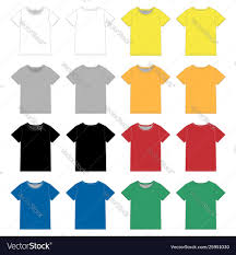 Yellow And Black T Shirt Designs Set Unisex Black T Shirt Design Template Front