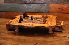 Handmade Wooden Board Games Wooden chess games Olive wood chess board Handmade wood chess set 26