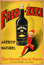 Fred Zizi Aperitif Wine 1932 Vintage Poster French Print, Poster or Canvas  by Patke