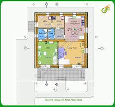 green passive solar house 3 first floor plan passive solar home plans