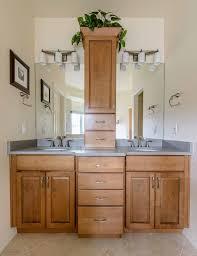 Peregrine Bathroom Remodel, Colorado Springs, Kraftmaid Fox Chase Maple  Cabinets With U201ctoweru201d