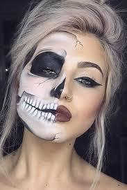 skeleton makeup half face pretty skeleton makeup awesome makeup half face