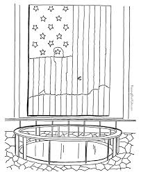 Small Picture Patriotic Symbols US Flag printable coloring page 014