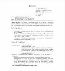Inspirational Sample Resume For Cse Students 50 Elegant Resume