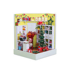 mini doll furniture. New Doll House Diy Toy Kit Wooden Dollhouse Room With Furniture Led Dustproof Cover For Children Christmas Birthday Gifts Cheap Miniature Mini L