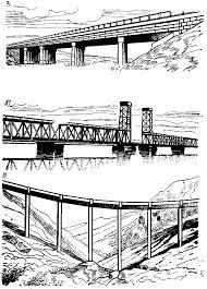 Реферат Искусственные сооружения на автомобильных дорогах  Рис 1 1 Железнодорожный мост 1 пролетное строение 2 опора
