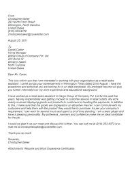 Employment Covering Letter Examples Retail Sales Assistant Cover ...