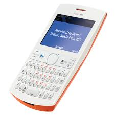 Nokia Asha 205 Orange & White Feature Phone