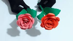 Paper Flower Making Video Rose Paper Flower Making Video Tutorials Easy To Learn Diy Craft