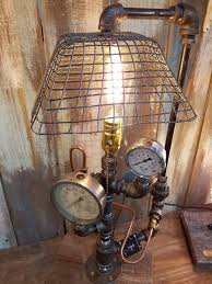 steampunk lighting. Wire Bakery Shade Steampunk Lamp - Twisted Lighting
