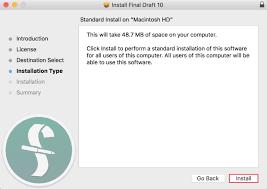 Install Final Draft 10 | Macintosh | Final Draft®