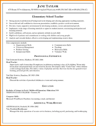 Head Teacher Resume 24 Elementary Teacher Resume Format Cashier Resumes Lesson 20
