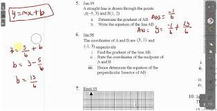 cxc csec maths coordinate geometry lesson 1 act math sat math