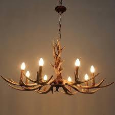 deer antler chandelier 6 or 8 heads candle antler chandelier retro resin deer horn lamps deer antler chandelier
